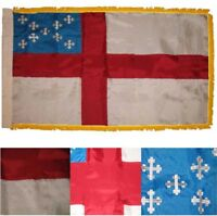 3x5 Embroidered Episcopal Church 300D Nylon Sleeve w/Gold Fringe Flag 3'x5'