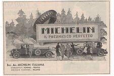 Pubblicità epoca MICHELIN PNEUMATICI AUTO CAR GOMME old advert werbung publicitè