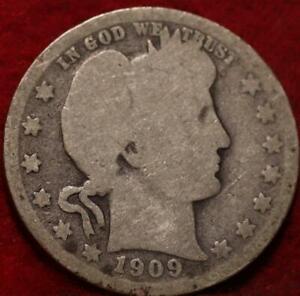 1909-O New Orleans Mint Silver Barber Quarter