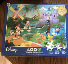 New listing Disney 400 Piece Together Time Puzzle Mickey Mouse Playing Mini Golf Puzzle