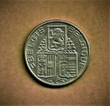Belgium, 1938 5 Francs milled edge with 'Crown' variety coin (KM#117.1) at E.F.