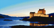 "Eilean Donan Castle at Night - Scottish Cross Stitch Kit 19"" x 10"" - 14 Count"