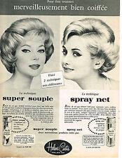 PUBLICITE ADVERTISING 034   1960    HELEN CURTIS  laque spray
