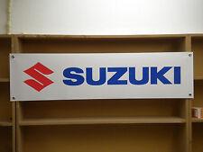 Banner logotipo Suzuki Motocicleta taller garaje signo de PVC