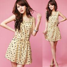 Ladies Womens Summer Short Maxi Dress Skirt Chiffon Evening Party Size 8 10 12