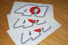 Noriyuki Haga 41 Race Numbers X3 (Medium)