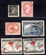Canada 1890's-1900 Six Classics 4 Used, 2 Unused