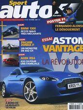 SPORT AUTO n°525 de Octobre 2005 ASTON MARTIN VANTAGE V8 PAGANI ZONDA