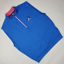 Footjoy Golf Pullover Vest M Medium Blue Mens Size The Federal Club 1/4 Zip Man