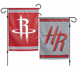 "Houston Rockets NBA Garden Flag Double Sided Basketball  Licensed 12.5"" x 18"""