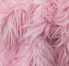 Faux Fur Mongolian Pink 60 Inch Wide Fabric BTY Coat Vest Throws Blankets