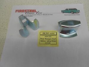 1955 Chevy Chevrolet #20-333 BUMPER END to BODY BELL SPACERS pr. - New