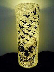 Skull and Black Birds Paper Lantern No.311, halloween lanterns, writer's gifts
