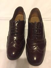 Mens French Connection Brown Patent Leather Brogues