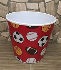 "SPORTS Melamine Pot container 4 1/2""H X 5""Opening"