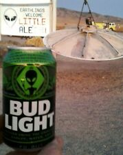 Bud Light Beer Alien Area 51 12 oz Earth Can Alienstock Rachel Bottom Empty Le