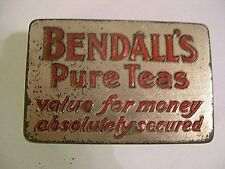 BENDALL'S PURE TEAS ADVERTISING VESTA MATCH TIN CASE VINTAGE