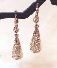 Women's Fashion Jewelry 18K Rose Gold Pltd Dangle/Drop Filigree Design Earrings