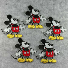 5pcs Mickey Mouse Sew Iron On Embroidered Machine Embroidery Patches Appliques