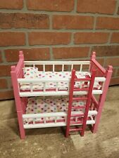 """Cititoy Circo Mini 8"""" Baby Doll Bunk Bed Beds Playset Dark Pink Ladder NO DOLLS"""