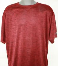 NEW Mens Russell Athletic Heather Red Black B&T Dri Power Moisture Wicking Shirt