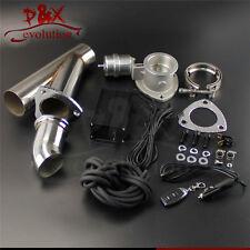 "3"" / 76mm Vacuum Exhaust Cutout E-Cut Electric Control Valve W/ Pump Kit"