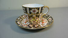 BEAUTIFUL ROYAL CROWN DERBY PORCELAIN IMARI #2451 CUP & SAUCER, RED MARK