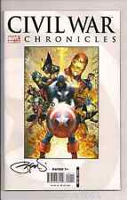 Civil War Chronicles #1 by Michael Turner & Signed by Peter Steigerwald W/COA