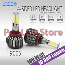 9005 COB LED 100W Headlight Bulb High Beam only 11000 lumens