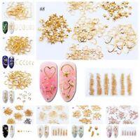 3D Nail Art Rivet Shiny Beads Stud Glitter Star Moon Metal Ornament Manicure---