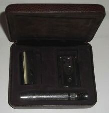 GILLETTE HERITAGE-INSPIRED DOUBLE EDGE SAFETY RAZOR WITHOUT BLADES NEW