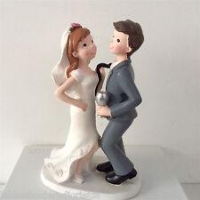 Cake topper SPOSI CON CALICE - matrimonio nozze decorazione torta (C)