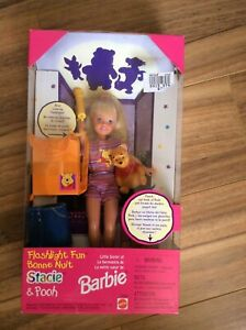 MATTEL FLASHLIGHT FUN STACIE & POOH, NEW IN BOX please read