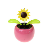 Solar Powered Flip Flap Dancing Flower For Car Decor Dancing Flower Toy GiftFB