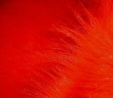 """NEW RED Long pile faux fur 60"""" by yard free shipping Black light blacklite"""