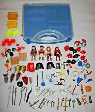 Lot PLAYMOBIL Castle Knight Pirate People Weapons Accessories Carry Storage Case