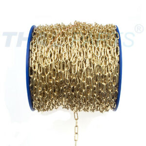 50m Uhrkette 1,1mm x 8,0mm x 4,5mm #U110 Messing Gold Zierkette
