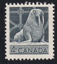 Canada 1954 Walrus 4¢ Wildlife, MNH sc#335