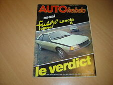 Auto hebdo N°210 Renault Fuego/Lancia Beta.Safari Rally