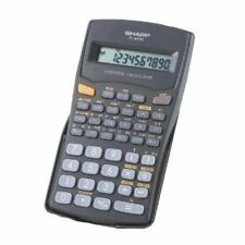Sharp El501Wbbk 10 Digit 131 Function Scientific Calculator