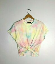 NWT Bershka Pink Tie Dye Front Knot T-Shirt    Size: M