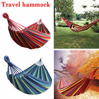 Portable Double/Single Camping Hammock Nylon Travel Outdoor Sleeping Swing Bed
