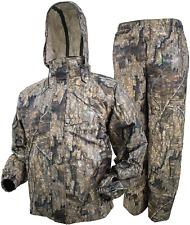Camo Rain Gear Waterproof Jacket Pant Water Resistant Hunting Hiking Mossy Large