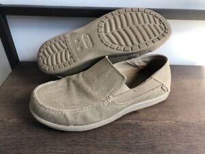 Crocs Mens Santa Cruz 2 202056 Khaki Comfort Slip On Low Top Loafers Size 10