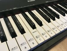 61 Piano Keyboard Removable Stickers for White and Black notes with notation