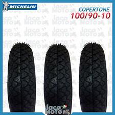 Tris 3 Copertoni Gomme Pneumatici Ruote MICHELIN 100/90-10 S83 PIAGGIO APE 50