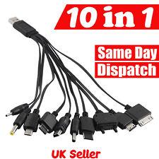 10 en 1 Universel USB Multi Câble De Chargeur Adaptateur pour téléphone mobile PSP voiture mini