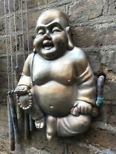 Exclusive & Unique Large Stone Happy Buddhas Wall Plaque , From Sius.