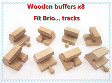 Thomas the tank engines wooden train track Stop, Buffer x 8    Fits Brio...new