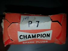 Champion Spark Plugs P7 NOS P-7 set of 3 Rare